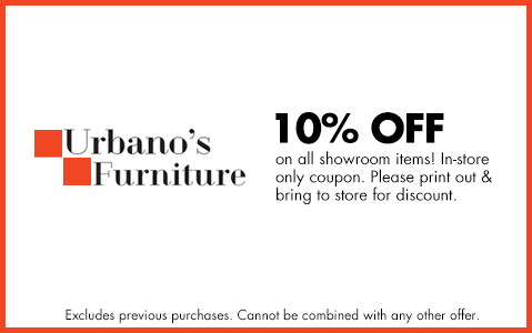 10% OFF all showroom items.